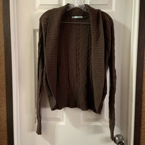 Maurice's Brown Knit Longsleeve Short Cardigan S